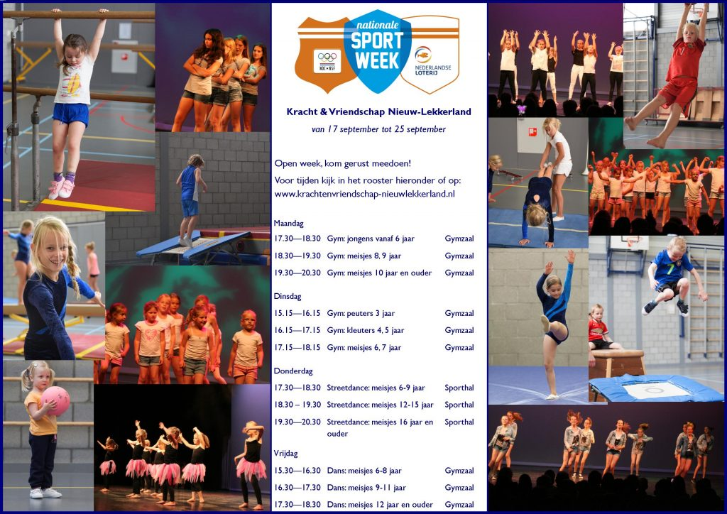 K&V 2016-2017 - Poster Nationale Sportweek